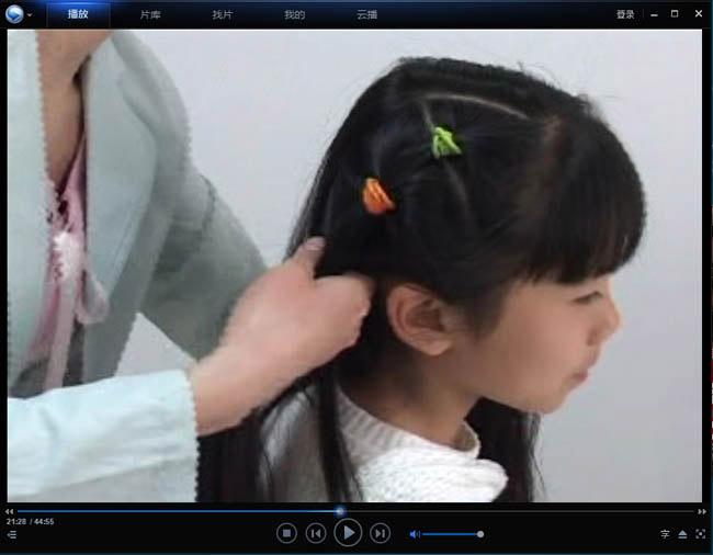 最新儿童发型小女孩盘发扎发扎辫宝宝编发编辫子教程
